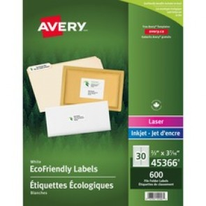 Avery&reg  EcoFriendly File Folder Label