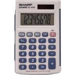 Sharp Calculators  EL-243SB 8-digit Pocket Calculator