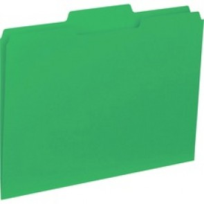 Business Source 1/3-cut Colored Interior File Folders