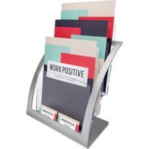 deflecto 3-tier Silver Literature Holder