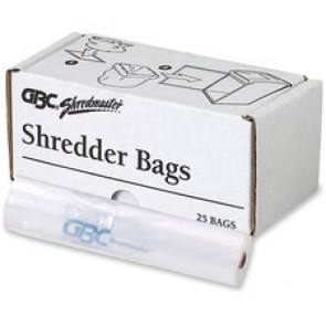 Swingline Shredder, 25 Poly Bags, Medium, Up To 19 Gallon, Clear