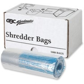 Swingline Shredder, 100 Poly Bags, Medium Up To 8 Gallon, Clear