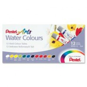 Pentel Arts Water Colors, Set of 12