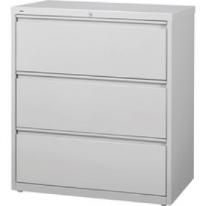 Lorell  3-drawer Light Gray Lateral Files