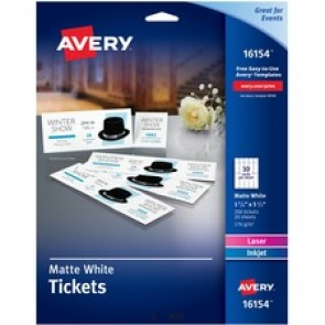 Avery&reg  Printable Tickets with Tear-Away Stubs