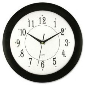 "Artistic  12"" Black Frame Round Wall Clock"