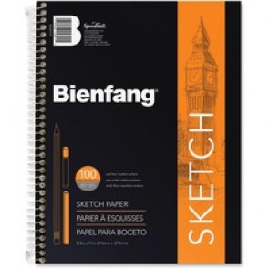 "Bienfang Sketch Book, 50Lb, 8-1/2"" x 11"", 100 Sheets, White"