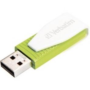 Verbatim Store-N-Go Swivel USB 2.0 Flash Drive, Green, 32GB