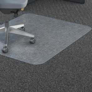 Lorell Polycarbonate Rectangular Studded Chairmats