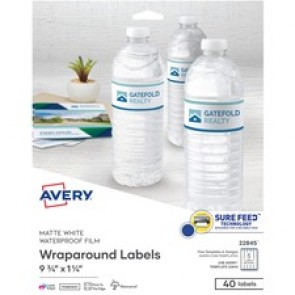 Avery&reg  White Conformable durable Wraparound Labels