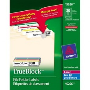 Avery&reg  TrueBlock File Folder Label