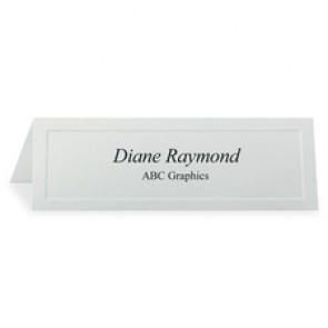 First Base Overtures Traditional Embossed Tent Cards