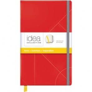 """TOPS Journal, Notebook, Elastic Band, Wide Ruled, 8-1/4"""" x 5"""", Red"""