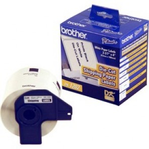 Brother  Labels - (White)  (4.0X 2-1/2)  Die Cut Shipping Label