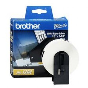 Brother  Labels - (White)  (2-1/8 x 2/3)  Die-Cut Multipurpose Labels