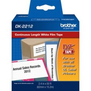 "Brother  Labels - (Black on White)  (2.4""x50ft)  Film"
