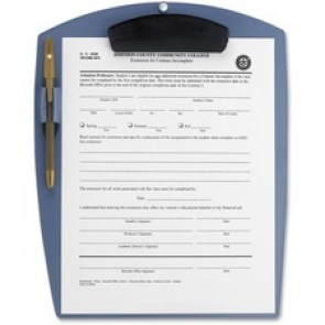 Storex Deluxe Poly Clipboard