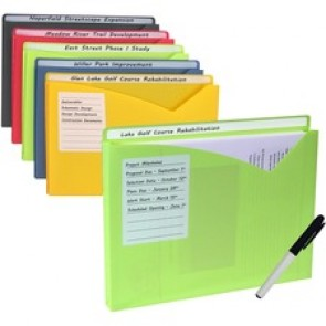 C-Line Write-on Poly File Jackets