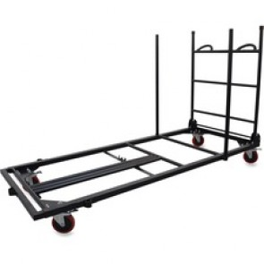 Lorell  Blow Mold Rectangular Table Trolley Cart