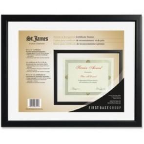 First Base Black Floating Certificate Frame