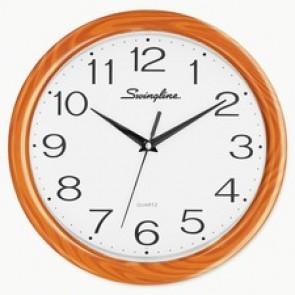 "Swingline  12"" Woodgrain Round Wall Clock"