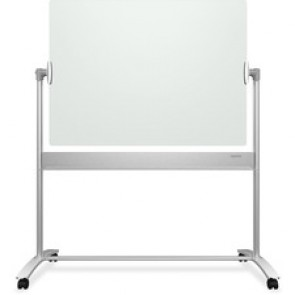 Quartet Infinity Magnetic Glass Easel, 4 Caster, 4' x 3'