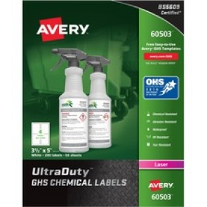 Avery&reg  Ultraduty GHS Chemical Labels  - Laser