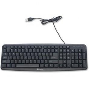 Verbatim  Slimline Corded USB Keyboard - Black