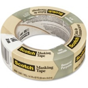 Scotch Masking Tape for Production Painting 2020-36A, 36 mm x 55 m