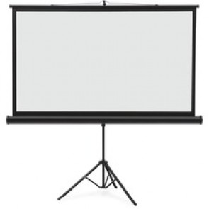 "Quartet Tripod Projection Screen, 52"" x 92"", Black/White"