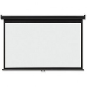 "Acco Wide Format Wall Mount Projection Screen, 65""x116"", BKWE"