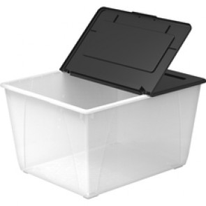 Storex 60L Flip Top File Storage Tote