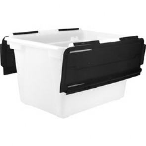 Storex Swing Top File Storage Tote
