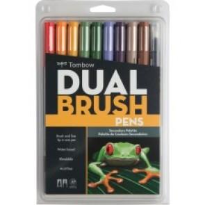Tombow  dual Brush Art Pen 10-piece Set - Secondary Colours
