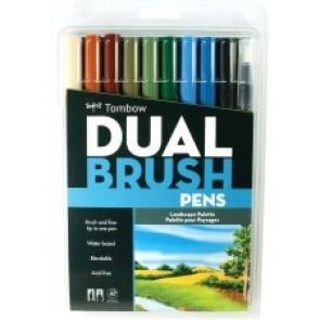 Tombow Dual Brush Art Pen 10-piece Set - Landscape Colours
