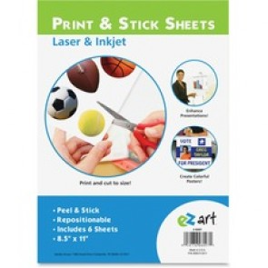 "U.S. Stamp & Sign EZ Art Peel/Sticker Sheets, 8-1/2"" x 11"", 6/Box, Multi"