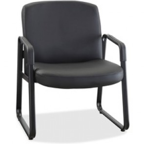 Lorell  Big and Tall Leather Guest Chair