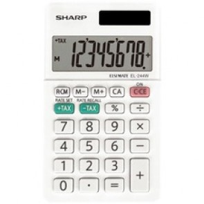 Sharp Calculators EL-244WB 8-Digit Professional Pocket Calculator