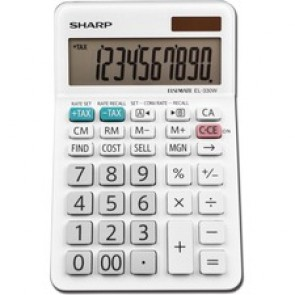 Sharp Calculators EL-330WB 10-Digit Professional Desktop Calculator