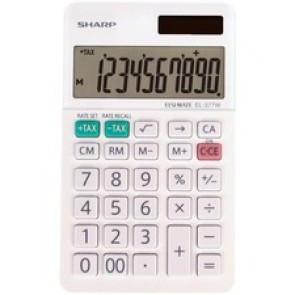 Sharp Calculators EL-377WB 10-Digit Professional Handheld Calculator