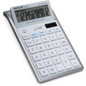 Victor 12-digit desktop Calculator, White
