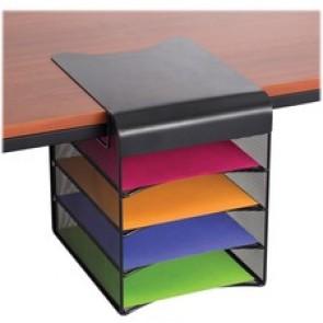 "Safco Solid Top Horizontal Hanging Storage, 12-1/2"" x 12"" x 10"", Black"