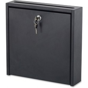"Safco Interoffice MailBox, 12"" x 3"" x 12"", Black"