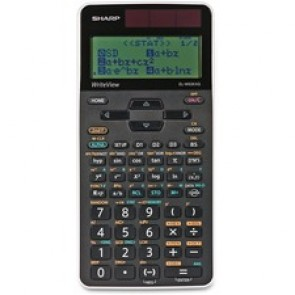 "Sharp Calculators Writeview Scientific Caluclator, 330 Function, Battery Powered, 3-7/64"" x 6-7/64"" x 1/2"", Black"