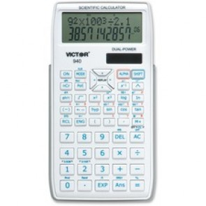 "Victor Scientific Calculator, 2-line Display, 10-digit, 240 Functions, 3-1/5"" x 6"" x 3/5"""