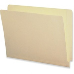 Business Source  2-Ply End Tab Manila File Folders