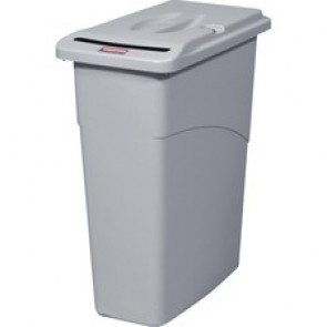 Rubbermaid Slim Jim Confidential with Lid 87.1l/ 23 Gal Light