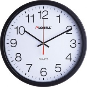 "Lorell 12-1/2"" Slimline Wall Clock"