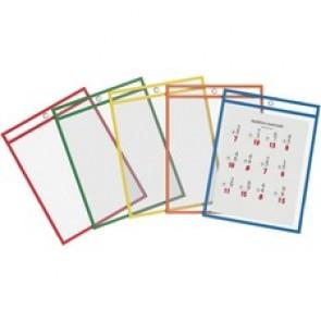 QuickFit Dry Erase Pocket - Assorted Frame - Rectangle - 10 / Pack