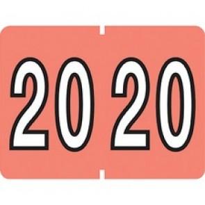 "Pendaflex ID Label - Self-adhesive Adhesive - ""2020"" - Rectangle - Pink - 500 / Box"